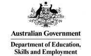 Australian Government Department of Education, Skills and Employment logo