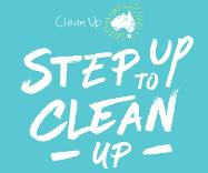 the words Clean up Australia Day - Step up to clean up